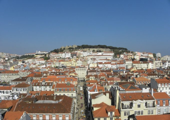 Portugal Lisbon Decadent Viewpoint Panoramic City
